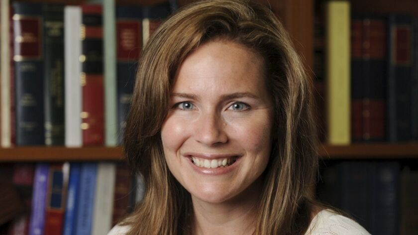 Amy Coney Barrett is a judge on the U.S. 7th Circuit Court of Appeals.
