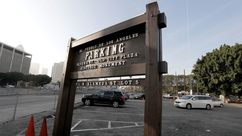 The city plans to build temporary shelter for the homeless on a city-owned lot at the corner of Arcadia and Alameda streets in downtown Los Angeles.