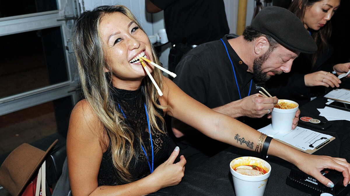 San Diegans slurped their way through the third annual San Diego Ramen Festival at Port Pavilion on Broadway Pier on Thursday, Nov. 29, 2018.