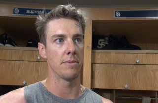 Ryan Buchter, Jered Weaver discuss pitching concerns for Padres