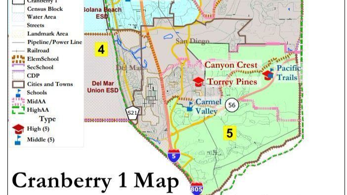 SDUHSD selects map for district elections - Rancho Santa Fe Review on