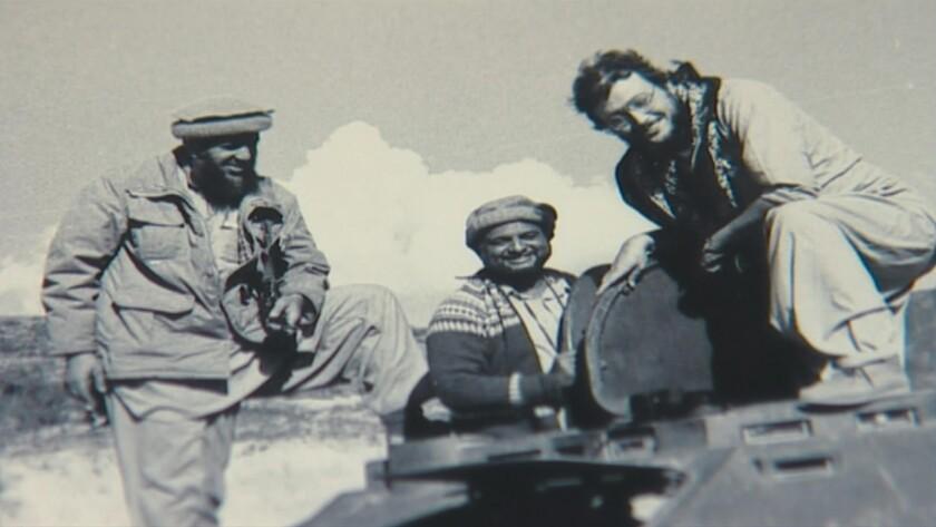"Jamal Khashoggi, right, in a photo from the documentary ""Kingdom of Silence."""