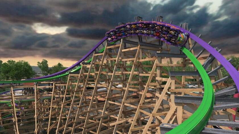 The Joker wood-steel hybrid coaster is set to debut in 2016 at Six Flags Discovery Kingdom.