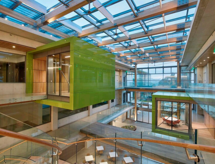 The architecture of the Center for Novel Therapeutics in La Jolla is a finalist for an Orchid Award.