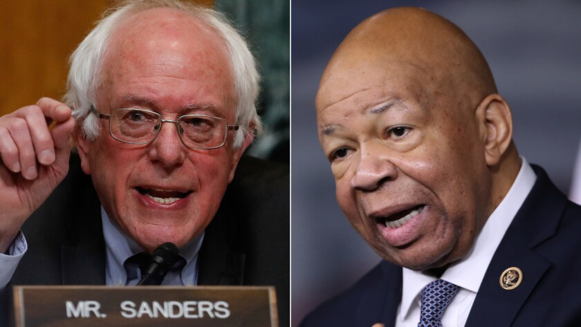 Bernie Sanders and Elijah Cummings