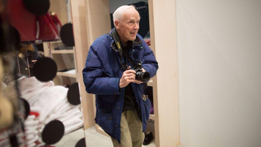 Bill Cunningham, Manhattan, New York, USA - 21 Dec 2013