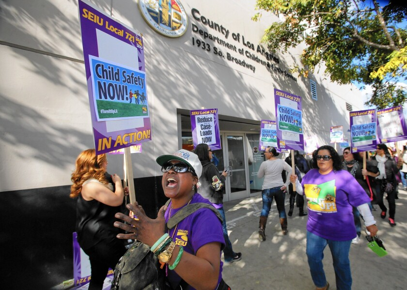 L.A. County hired 450 social workers last year to settle a strike.