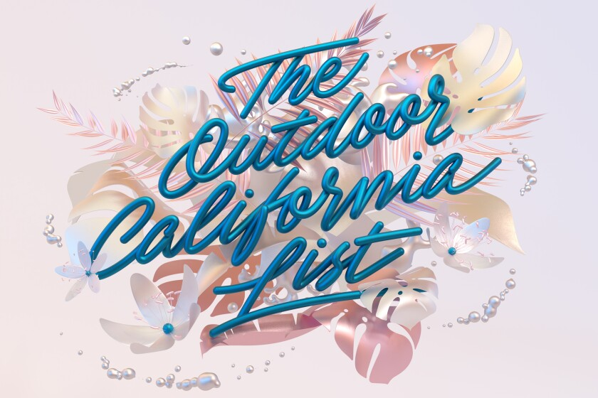 """Graphic that says """"The Outdoor California List"""""""