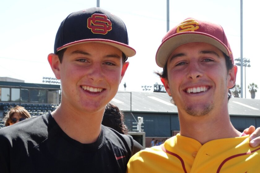 Brothers CJ Stubbs (left) and Garrett Stubbs share a USC connection. CJ is committed to play for the Trojans, and Garrett is in his senior season at USC.
