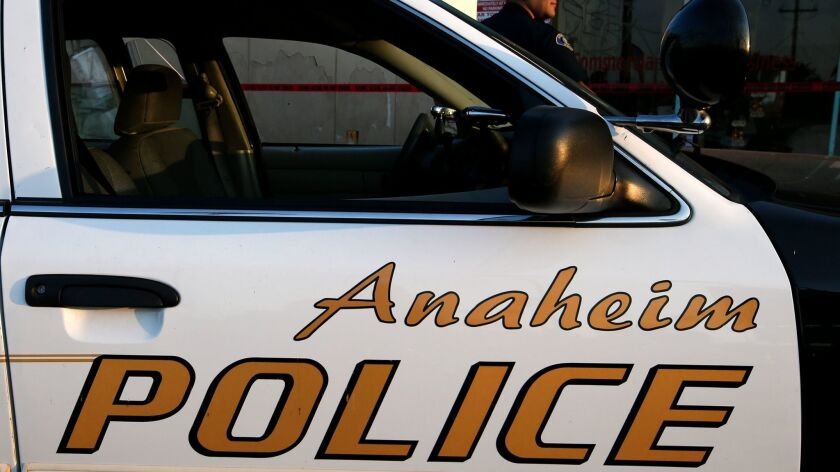 ANAHEIM, CA., AUGUST 24, 2015: Anaheim police continue to investigate the scene of an officer involv