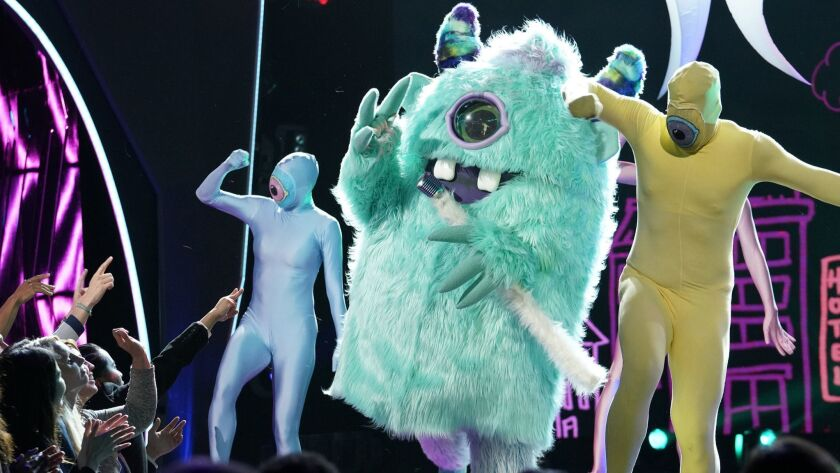 """Just say no: a tamer moment from """"The Masked Singer."""""""