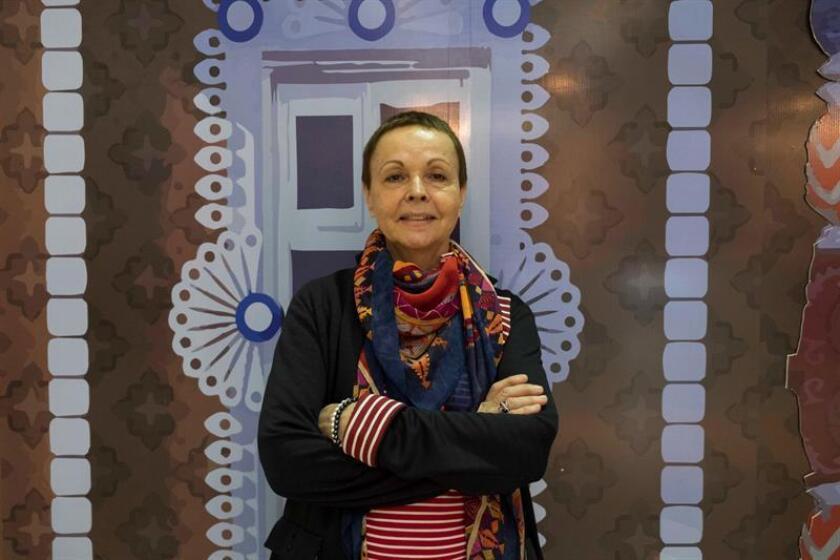 Fotografía fechada el sábado 17 de marzo de 2018 que muestra a la lingüista rusa Galina Ershova, directora del Centro de Epigrafía Maya Yuri Knorosov de Mérida, durante una entrevista con Efe en la ciudad de Mérida (México). EFE