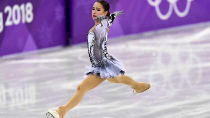 Russia's Alina Zagitova competes in the women's single skating short program of the figure skating event during the Pyeongchang 2018 Winter Olympic Games on Wednesday.