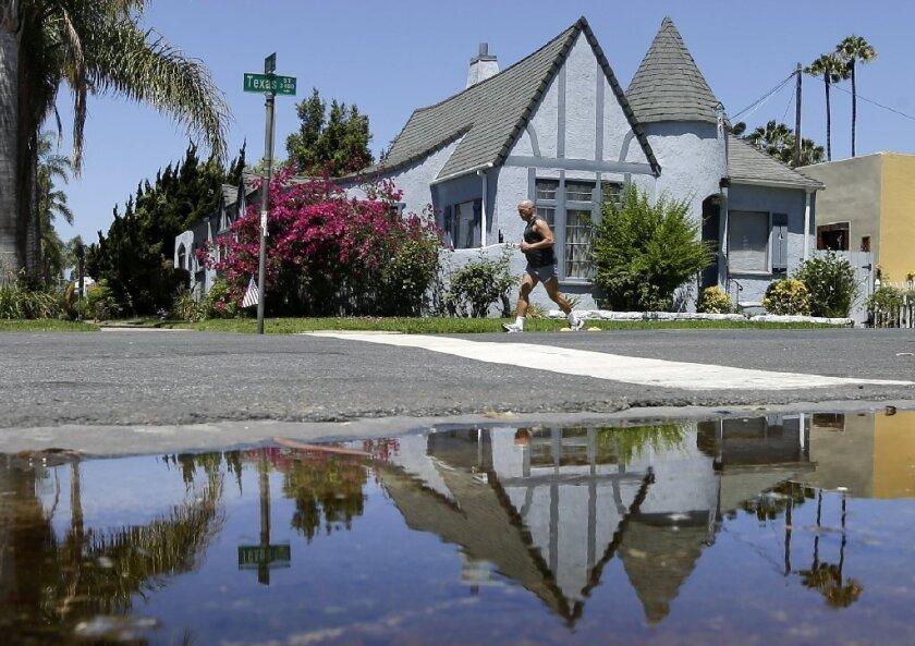 San Diego irrigation puddle