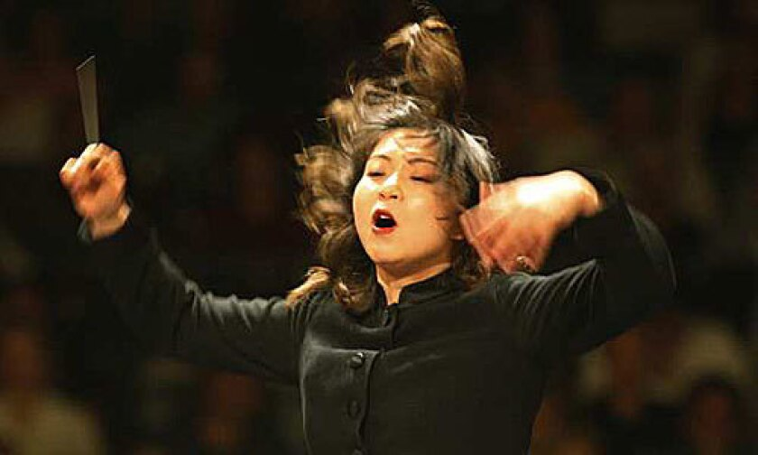 CHALLENGE: Shi-Yeon Sung, in her Bowl debut, conducts a demanding program of Wagner, Schumann and Brahms.