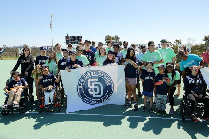 The 2019 Padres at the Miracle League Spring Season Opening Day