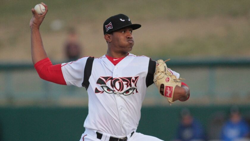 Padres pitching prospect Ronald Bolanos started the 2018 season at high Single-A Lake Elsinore.
