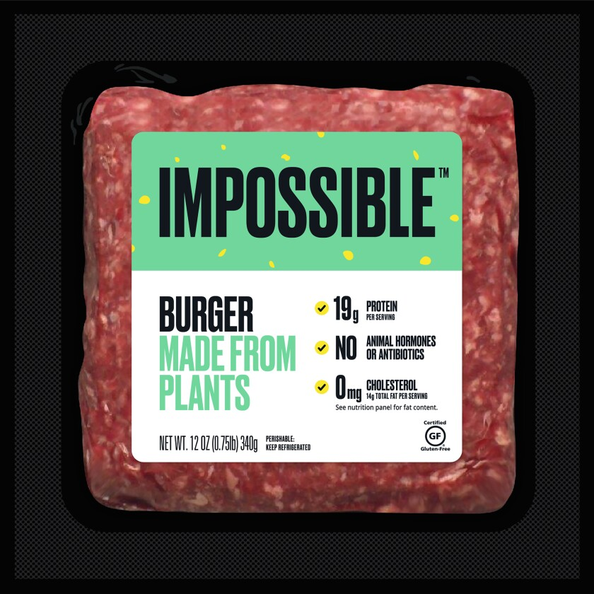 Impossible Burger retail packaging