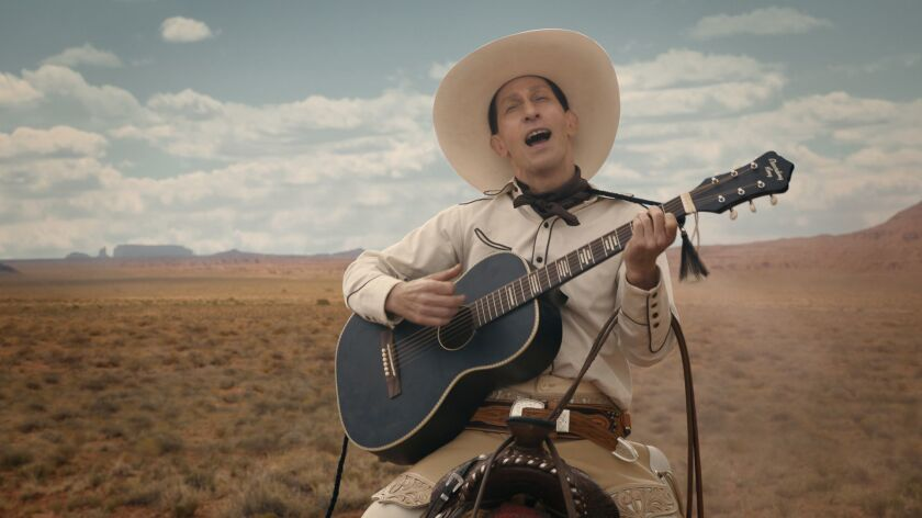 """Tim Blake Nelson in the title role of """"The Ballad of Buster Scruggs,"""" a film by Joel and Ethan Coen."""