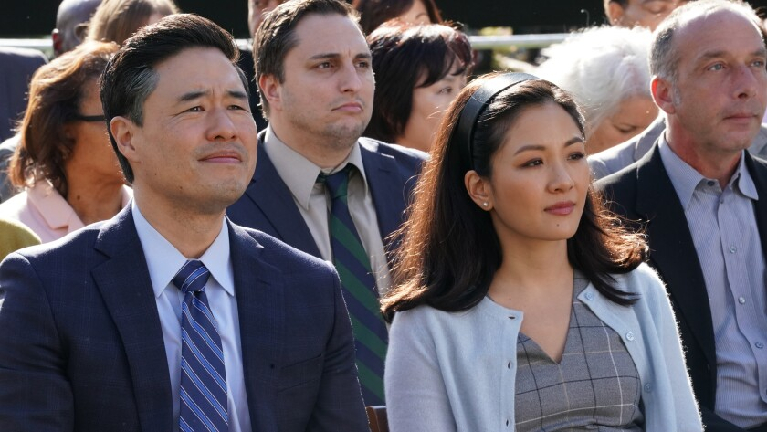 """Randall Park and Constance Wu in the series finale of """"Fresh Off the Boat"""" on ABC."""