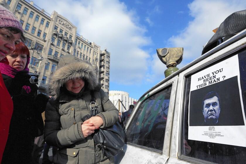President Viktor Yanukovich wanted in Ukraine