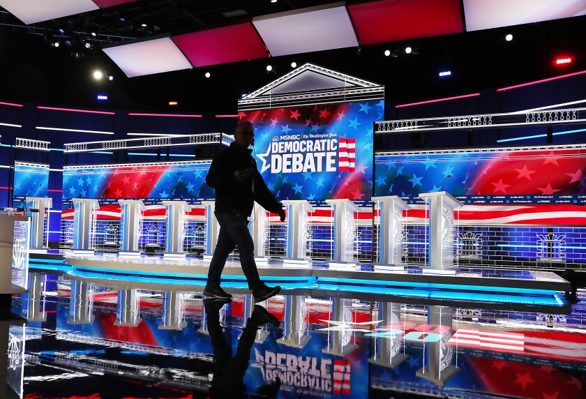 Democratic debate: Candidates take the stage in Atlanta - Los Angeles Times