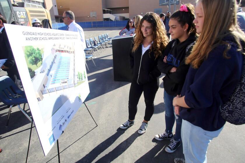 Pool groundbreaking goes swimmingly for Glendale High School