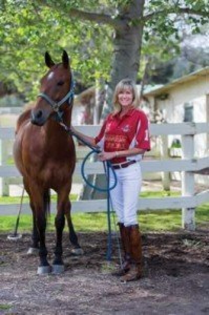 Krista Bonaguidi and one of her polo horses. Courtesy Topher Riley.