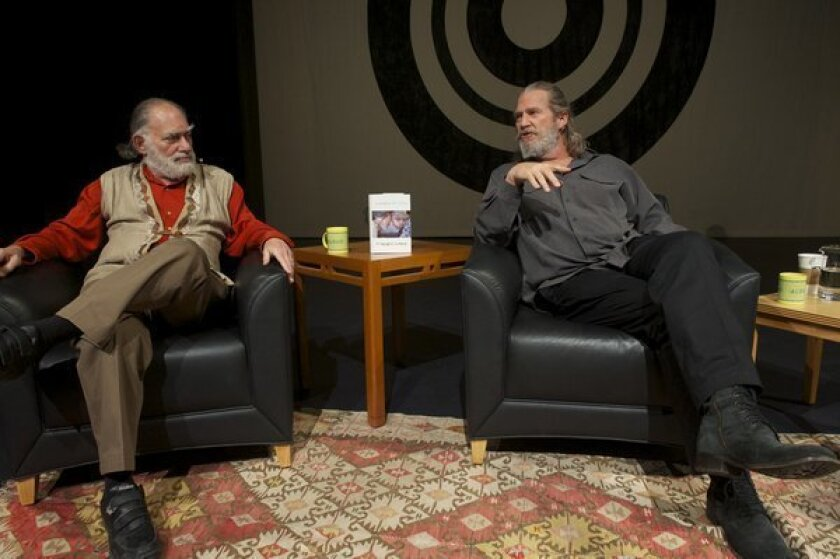 "Zen Master Bernie Glassman and Jeff ""Dude"" Bridges at ALOUD."