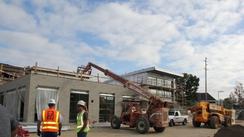 The new Earl Warren campus under construction. This is NOT a project that had its contract terminated.
