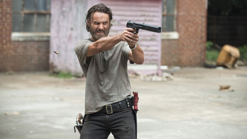 """Andrew Lincoln plays Rick Grimes in """"The Walking Dead."""""""