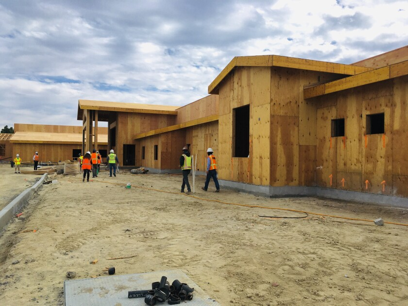Construction is in progress on the new Solana Vista School.