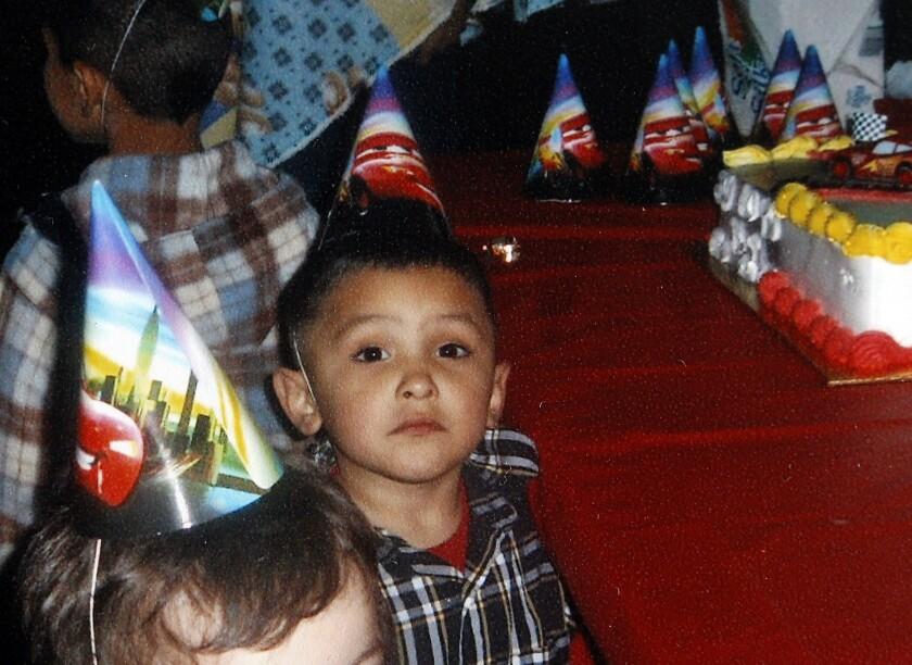A photo shows Gabriel Fernandez on his 3rd birthday in 2008.