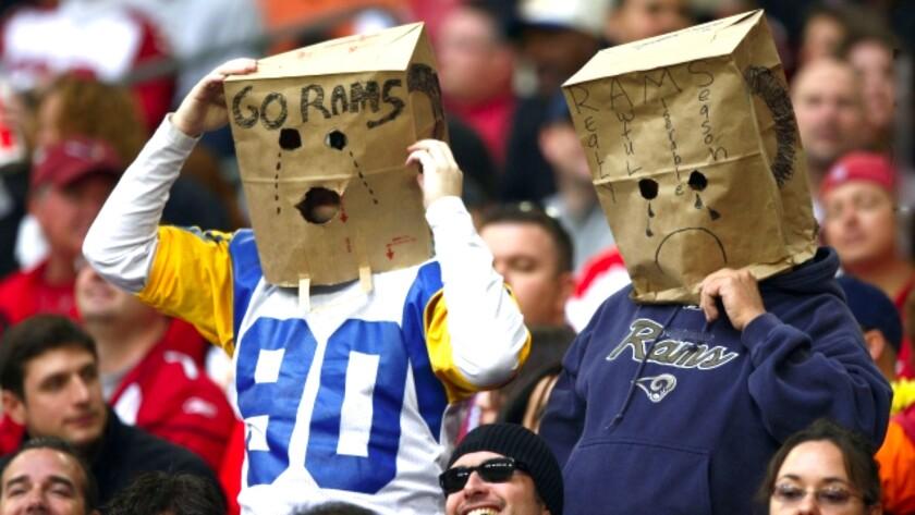 Fans y Rams... de malas.