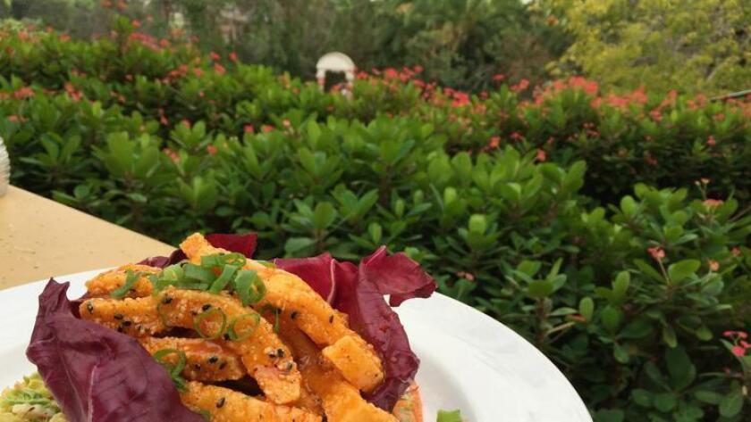 The spicy calamari fries at The Prado restaurant in Balboa Park. (Pam Kragen)
