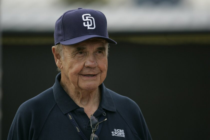 Dick Enberg is the newest addition to the Padres broadcast team, joining Mark Grant and Tony Gwynn.