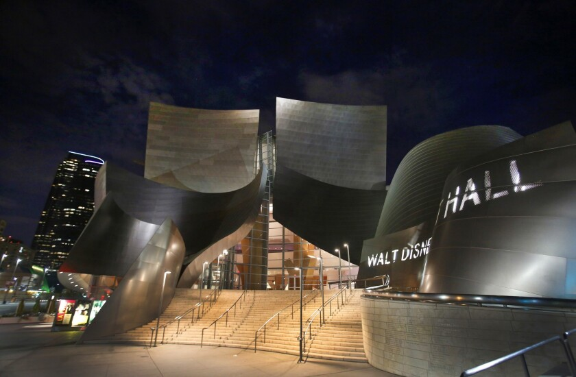 Evolution of Disney Hall in pictures