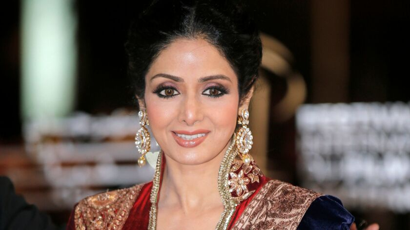 Indian actress Sridevi Kapoor arrives at the Marrakech International Film Festival in Marrakech in 2012.