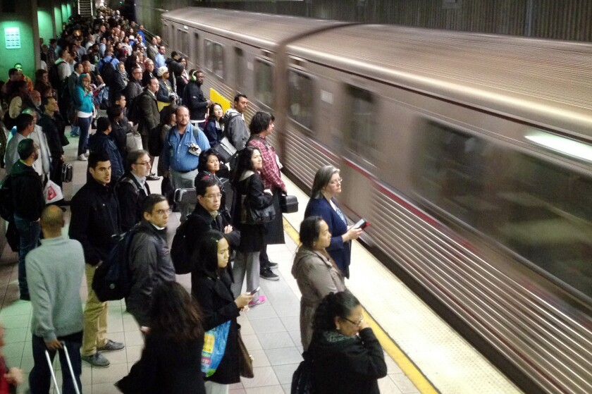 After the 4.4 earthquake, Los Angeles Metro Red Line subway was delayed but got running again in time for the Monday morning commute.