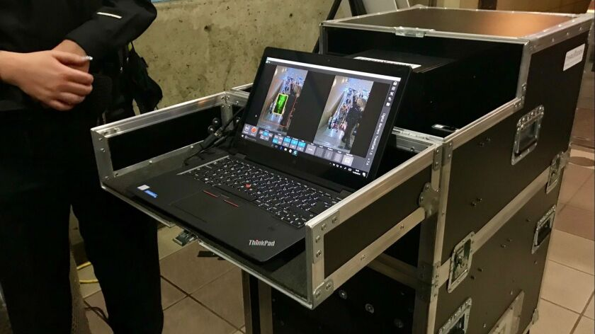 L A 's rail system will be first in the U S  to use scanners that