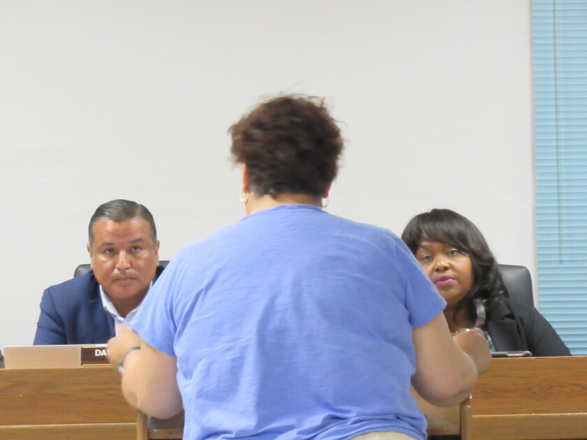 Lemon Grove City Councilman David Arambula (left) and Lemon Grove Mayor Racquel Vasquez are involved in a lawsuit brought by a cannabis dispensary businessman who was injured in a fight with Arambula in 2017.