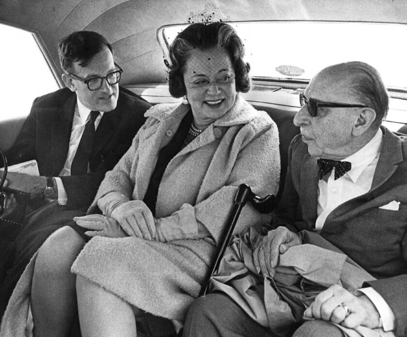 Igor Stravinsky, right, with his wife, Vera, and longtime assistant Robert Craft in 1964.