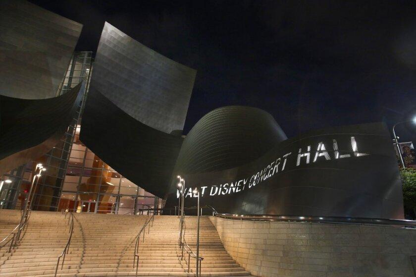 Disney Hall at night