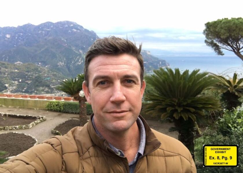 Rep Duncan Hunter, R-Alpine, on a previous trip abroad. The photo was entered into evidence by prosecutors, who say the trip was funded illegally with campaign contributions.