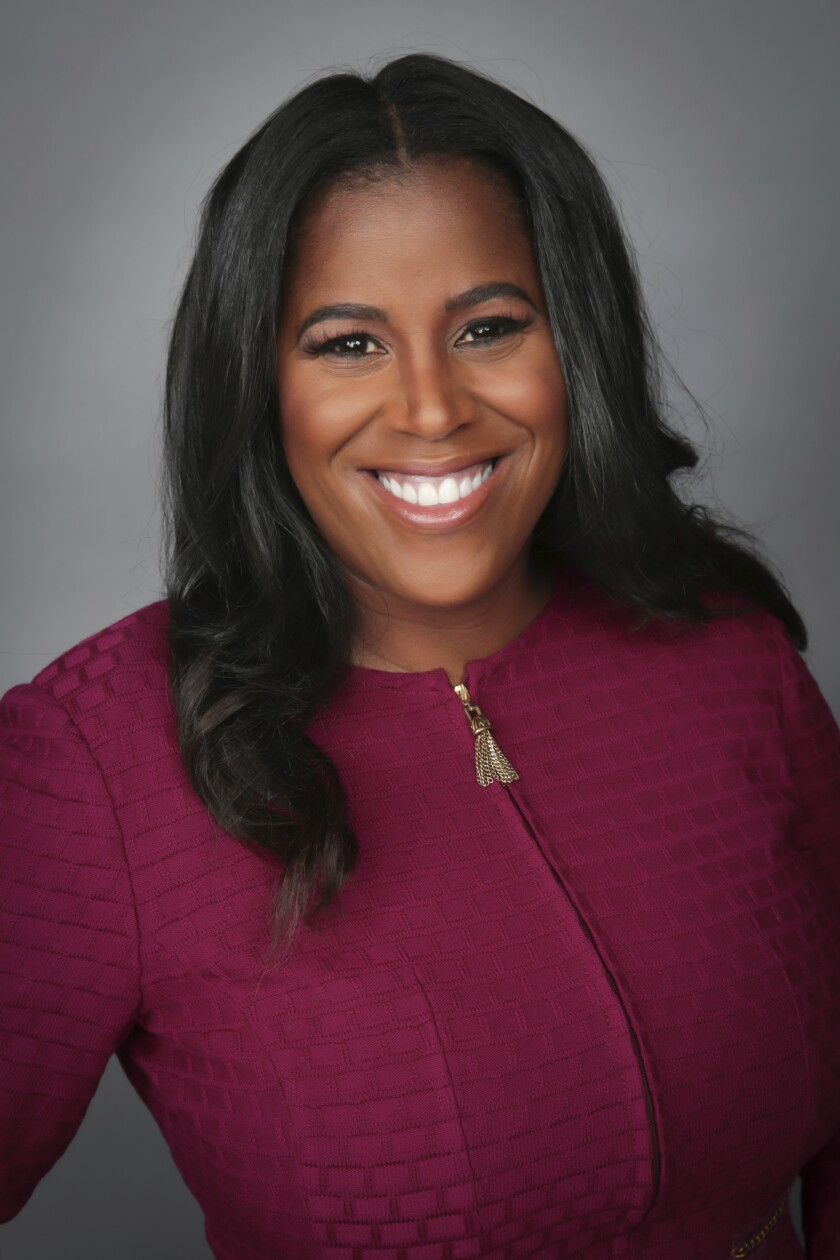 This photo provided by JP Morgan Chase shows Thasunda Brown Duckett. TIAA on Thursday, Feb. 25, 2021 named Thasunda Brown Duckett as its new chief executive officer. Duckett comes to the financial services firm from JPMorgan Chase, where she was CEO of Chase Consumer Banking. (JP Morgan Chase via AP)