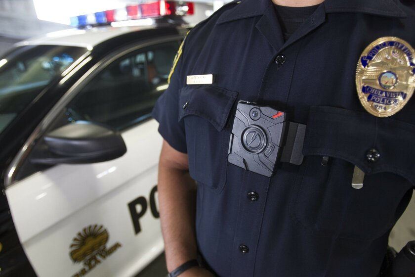 Chula Vista Police Department is one of the agencies in San Diego County using cameras while they are out on calls. The camera is mounted in the front of the officers uniform and has a fisheye camera lens. Officers turn the camera on at their discretion.