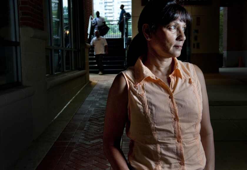 Sabrina De Sousa, shown here in Virginia in July 2012, is now in Portugal fighting extradition to Italy for her role in the CIA's kidnapping of a radical Egyptian cleric 13 years ago.