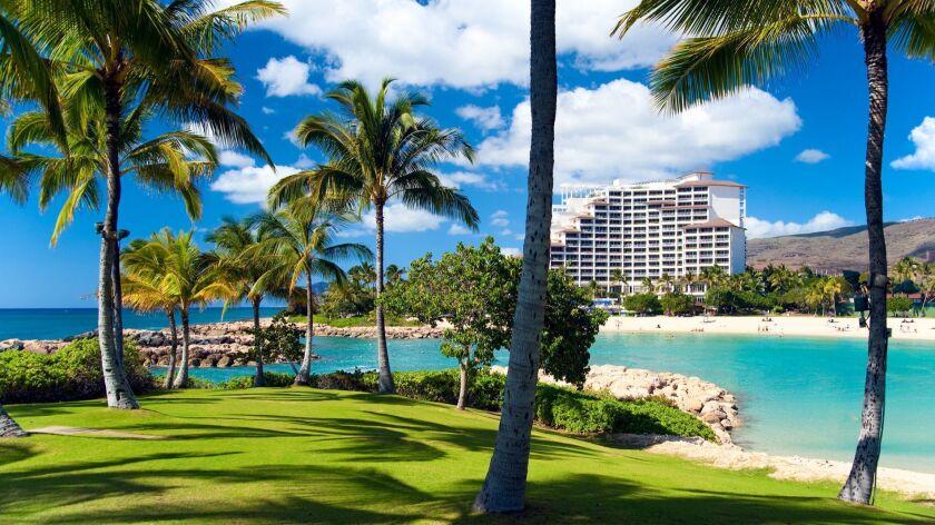 The Marriott timeshare resort on Oahu, Hawaii.