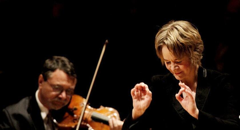 Finnish conductor Susanna Malkki returned to the L.A. Philharmonic.