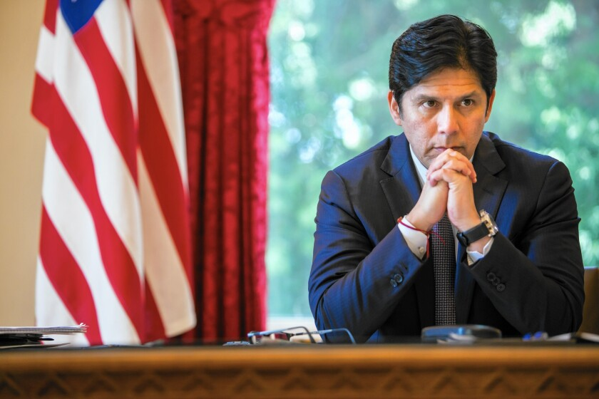 Senate leader Kevin de León (D-Los Angeles) is author of a contentious climate change bill on gasoline use and renewable energy.